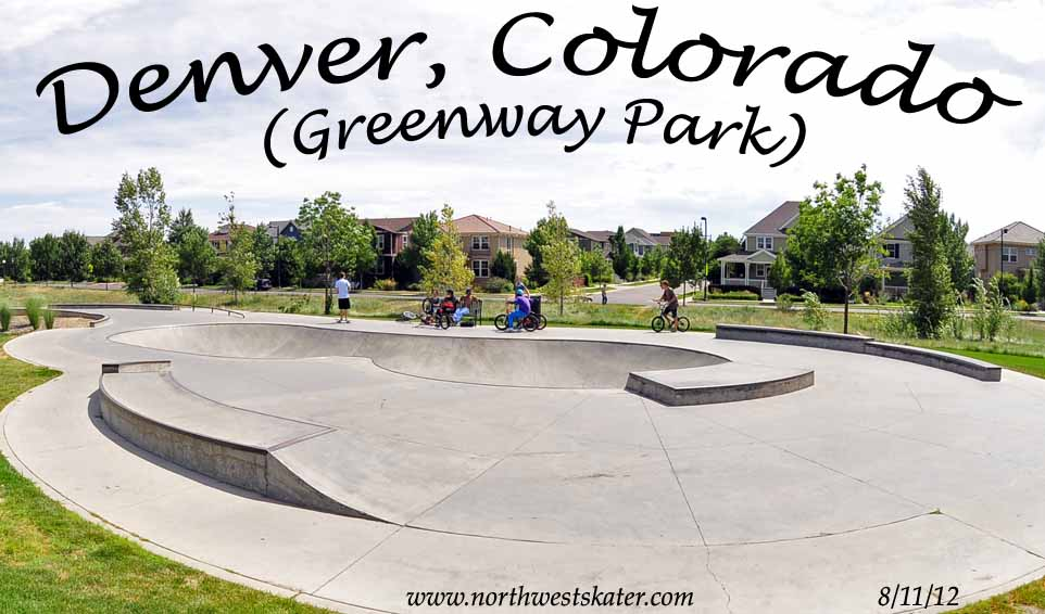 Denver Greenway Park Colorado Skatepark